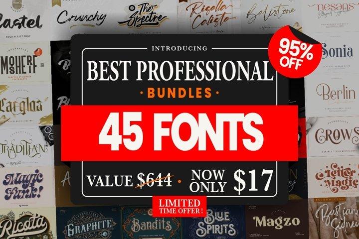 BEST Professional Font Bundle!