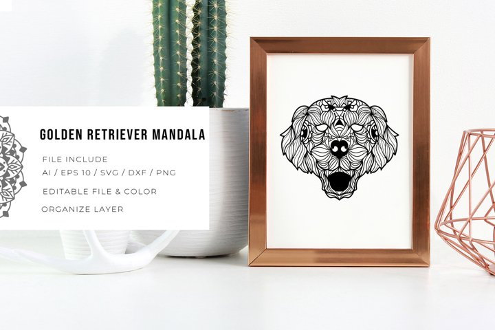 Golden Retriever   Mandala