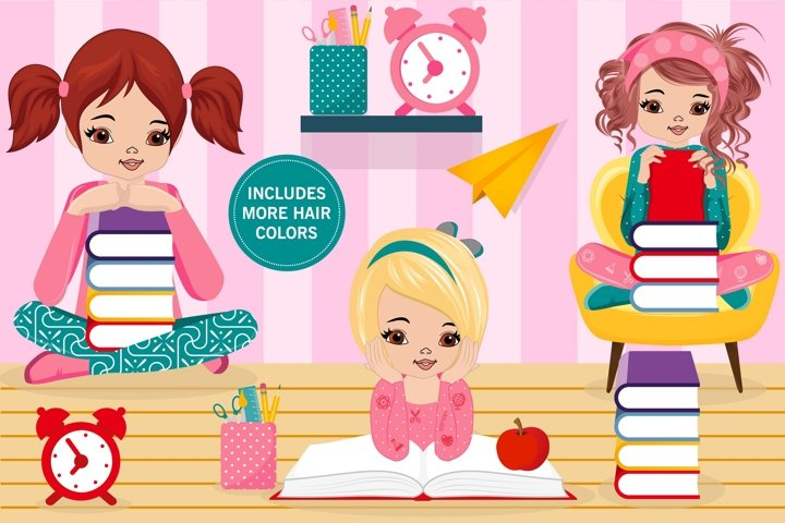 Alice back to school clipart, Alice back to school graphics