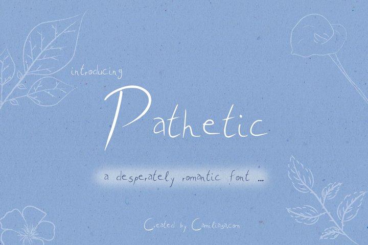 Pathetic - A nice romantic handwritten script font !
