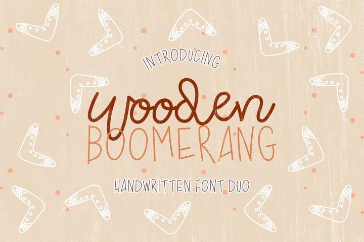 Wooden Boomerang - A Handwritten Font Duo