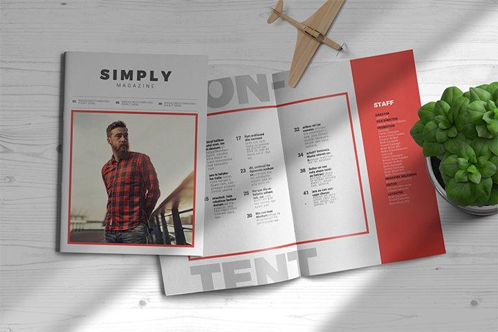 Simply | Magazine Template