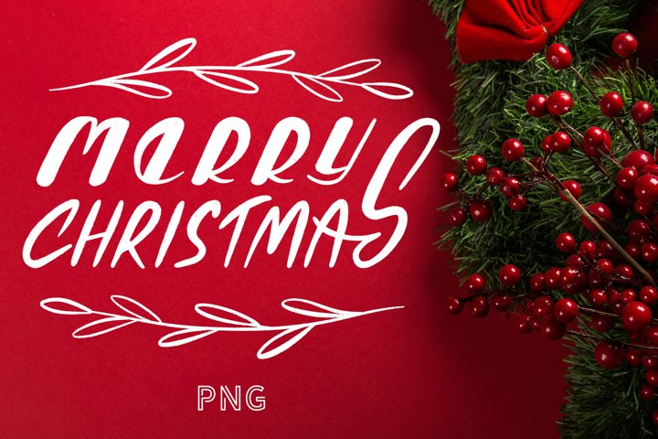 Chalk Christmas PNG Quote Merry Christmas