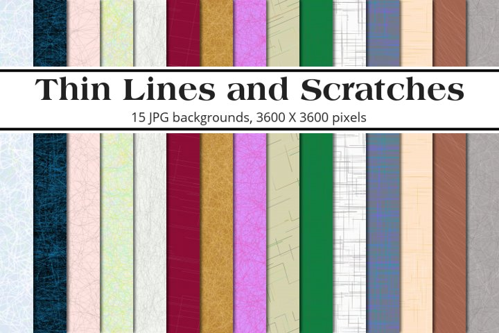 Thin Lines and Scratches Background Pack