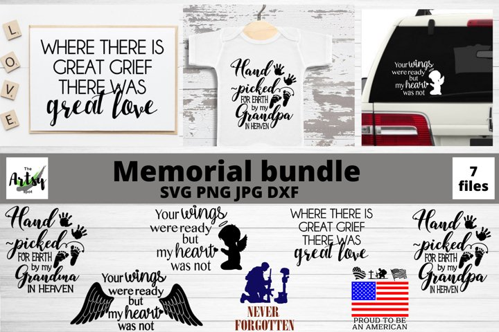 Memorial svg Bundle, In Memory of svg, Memorial Day bundle