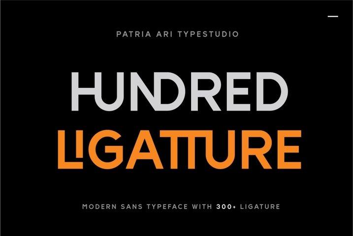 Hundred Ligatture Logo Font