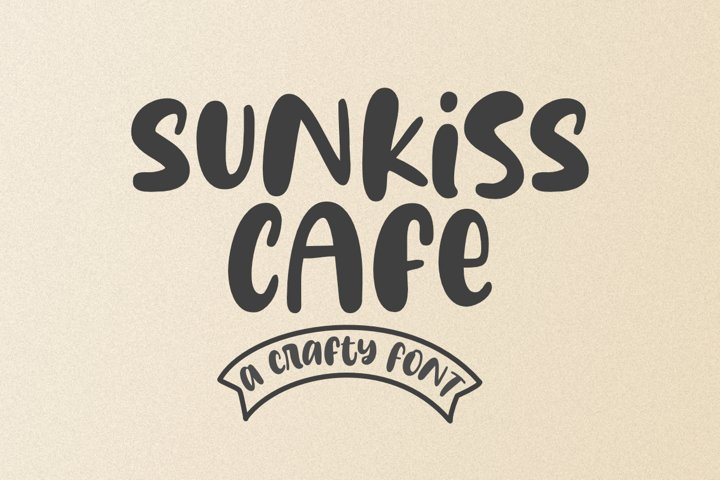Sunkiss Cafe - a Bold and Smooth Font