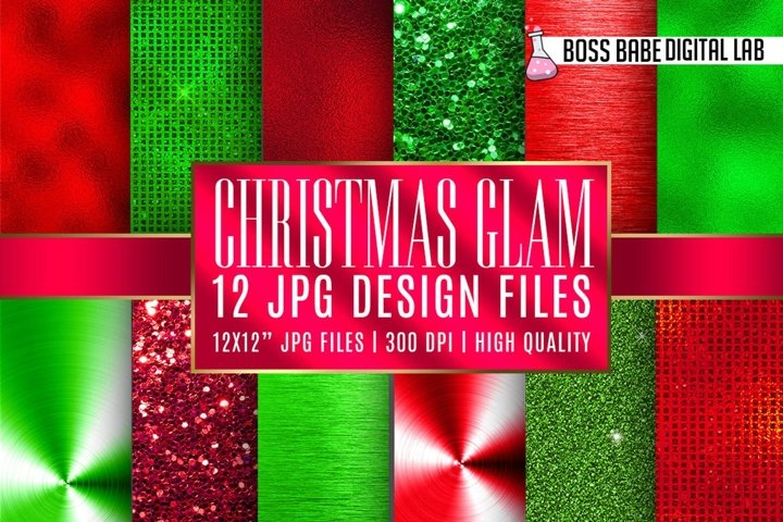 Christmas Glam Digital Papers
