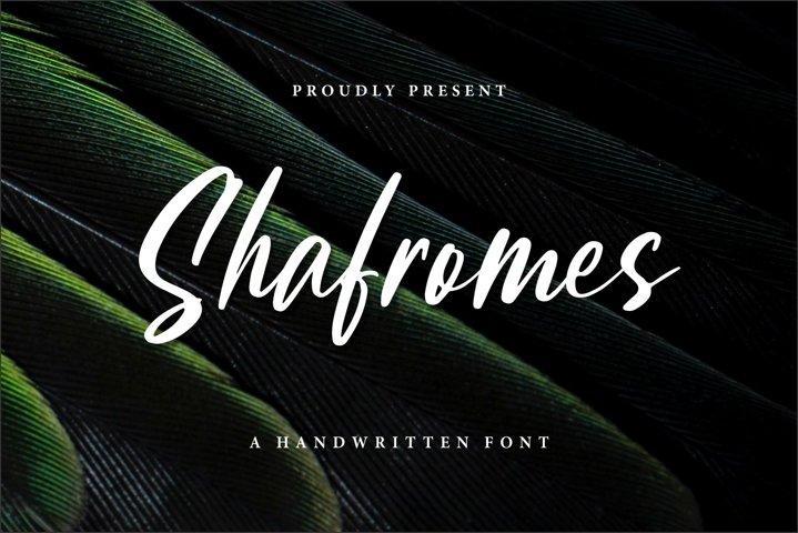 Shafromes - Handwritten Font