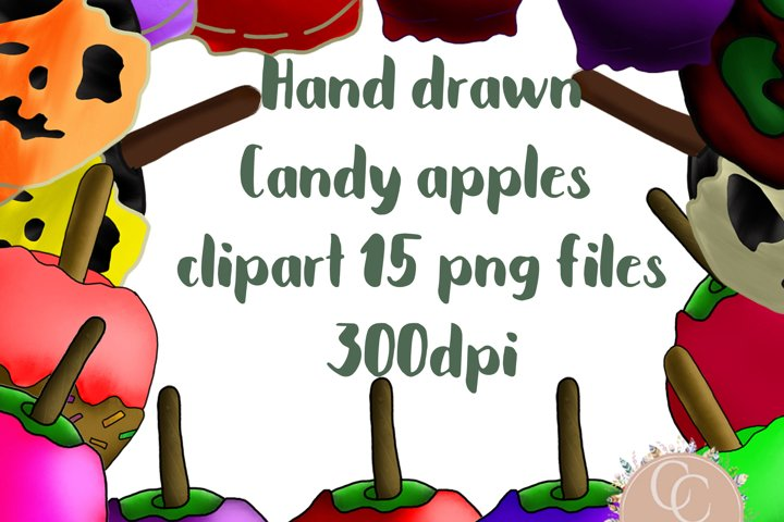 Sublimation clipart - Halloween candy apples Clipart