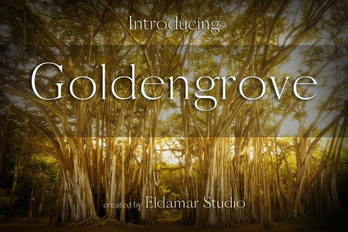 Goldengrove Font