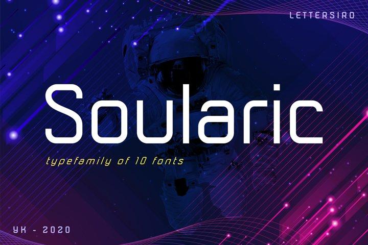 Soularic Futuristic Font Family