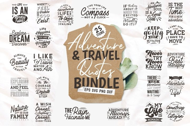 Adventure Travel SVG Quotes Bundle Vector Craft svg