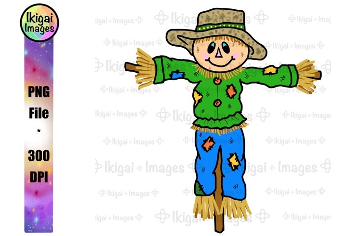 Scarecrow PNG, Cute Halloween, Sublimation Design for Kids