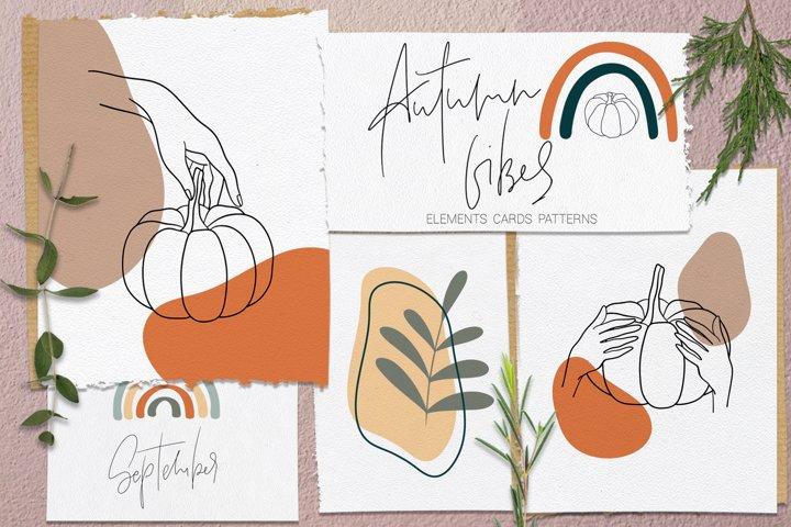 Autumn Vibes. Line art