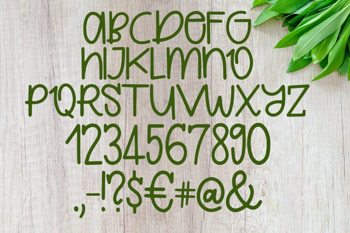 Quirkle - A Hand-Written Quirky Font example 1