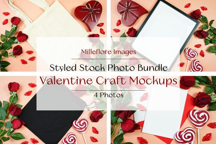 Valentine SVG Design Flatlay 4 Mockups Styled Photo Bundle