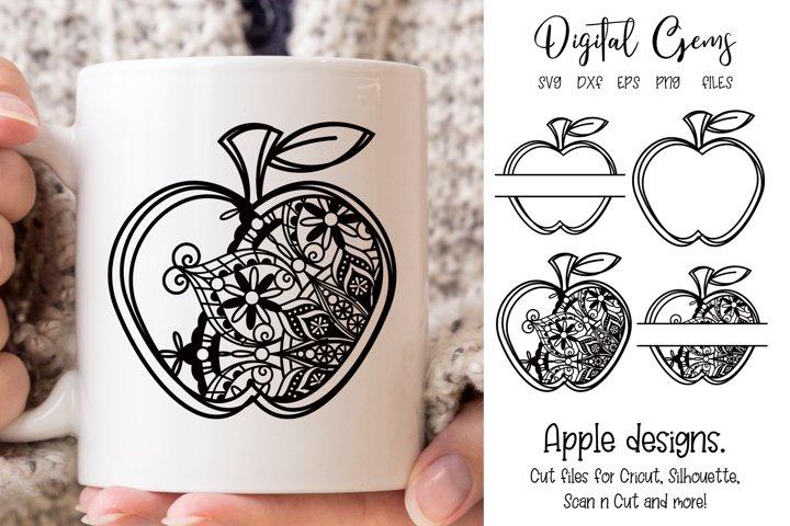 Teacher, Apple designs SVG / EPS / DXF / PNG Files