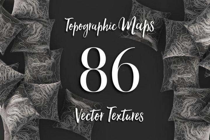 86 Topographic Maps Vector Bundle