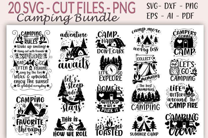 Camping bundle - Camper SVG, Camp Shirt design, Love Camping