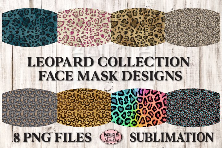 Leopard Print - Sublimation Face Mask Designs