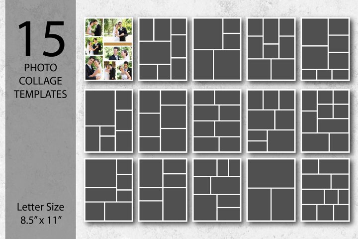 Letter Size Photo Collage Templates