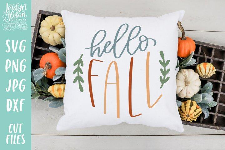 Hello Fall Round SVG Cut File