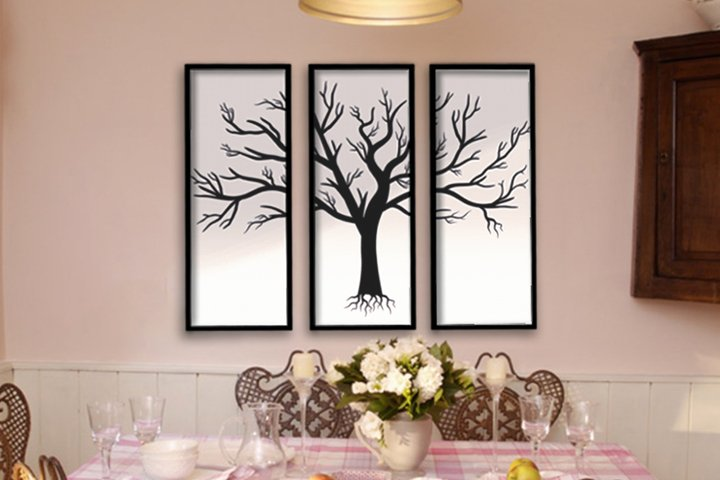 Tree Wall Decor, Home Office, SVG Files, Decoration, nature