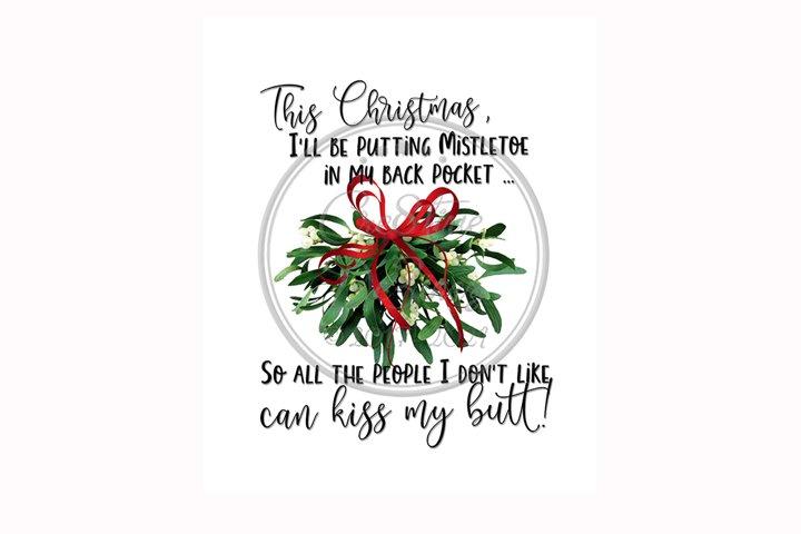 Kiss My Butt Christmas, Pun Sublimation, Towel Kitchen Fun