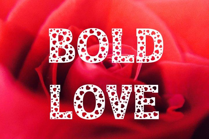 Bold Love - Valentines Font