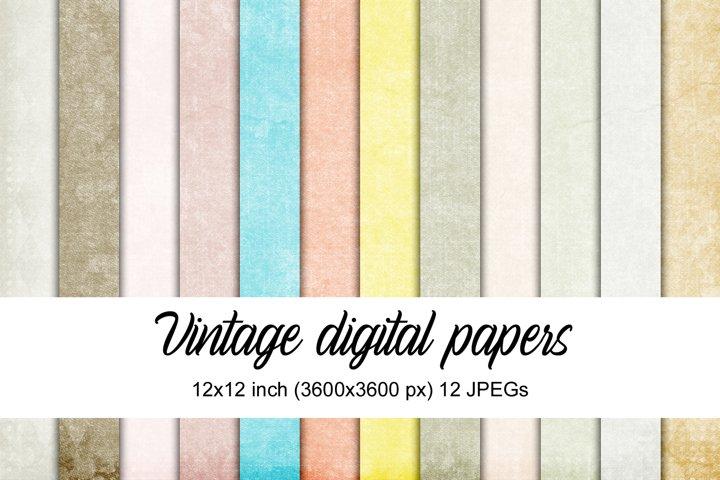 Vintage digital papers example