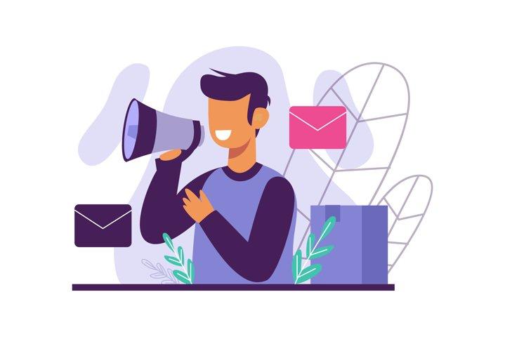 Newsletter flat illustration