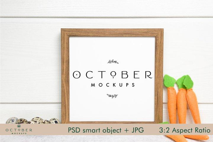 Easter Mockup Frame | Square Frame JPG and PSD smart object