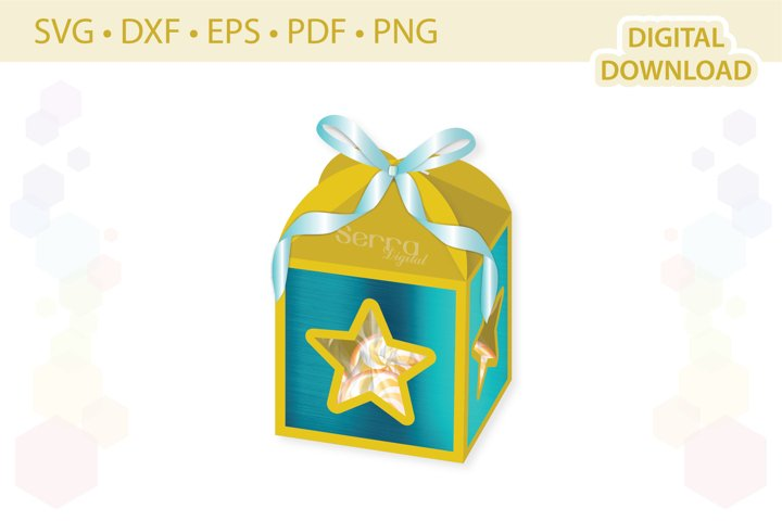 Star Favor box template .svg .dxf .eps .pdf .png