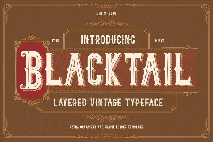 Blacktail - Layered Vintage Font