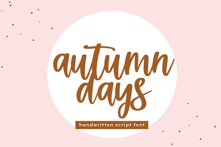 Autumn Days - A Handwritten Script Font