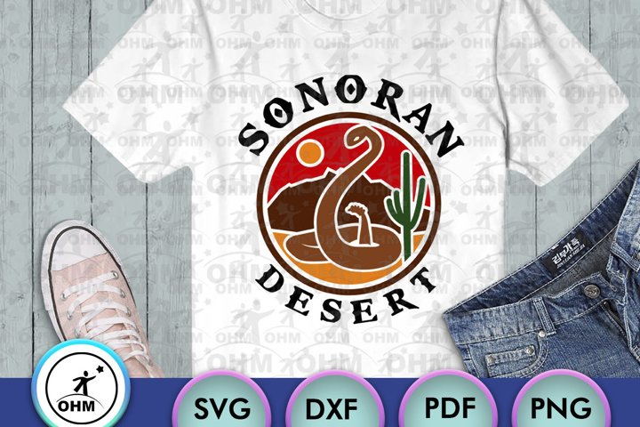 Sonoran Desert SVG, Snake Svg, Cut file for crafters