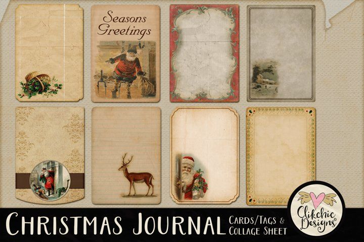 Printable Christmas Tags - Vintage Christmas Journal Cards