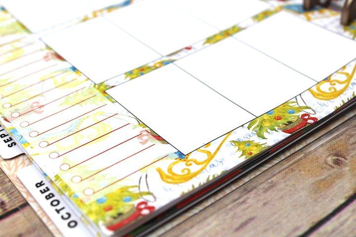 Happy Planner PRINTABLE, Weekly Insert Refill, Christmas, Gifts, Santa Sleigh, Printable, Planner Printable, 7 x 9.25, Mambi Happy Planner