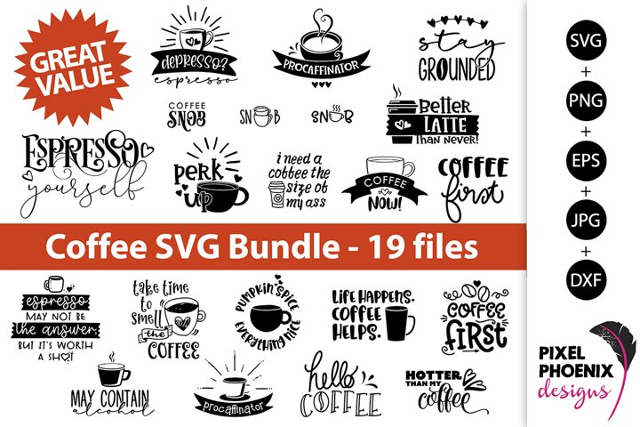 Coffee SVG, Coffee Bundle, SVG Bundle