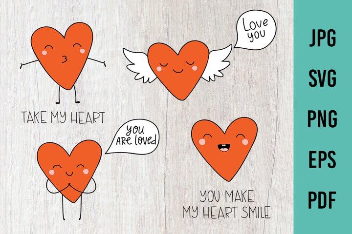 Valentines Day Hearts SVG. love svg Cartoon cute heard