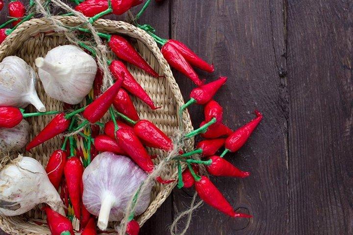 Garlic and red chili.