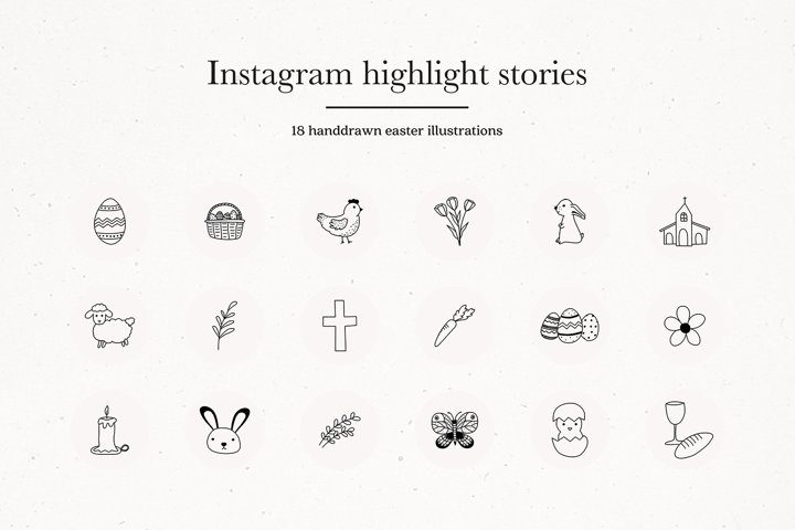 Instagram Easter Highlights Icons | Instagram Story Covers