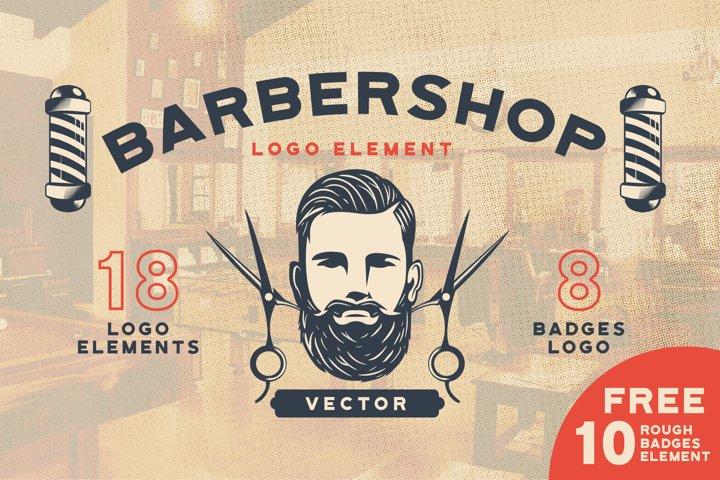 Barbershop Logo Element Vector