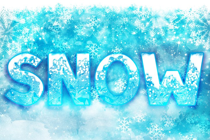SNOW - Font Family for Christmas!