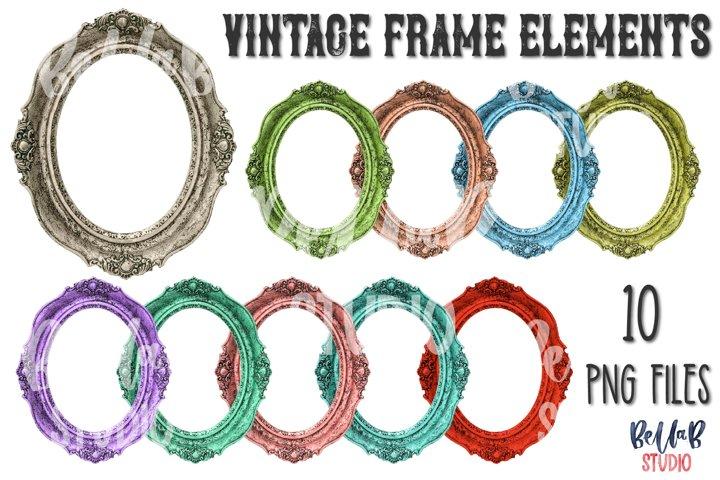 Vintage Frame Sublimation Elements Bundle