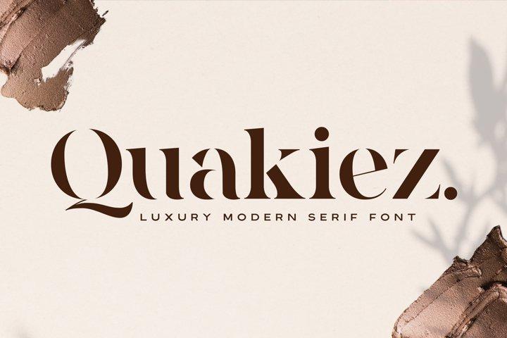 Quakiez - Luxury Modern Serif