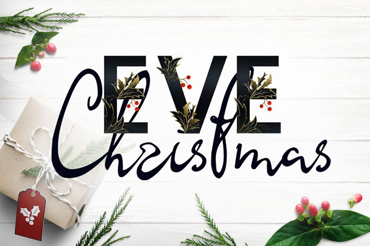 Christmas Eve - font duo SVG and script
