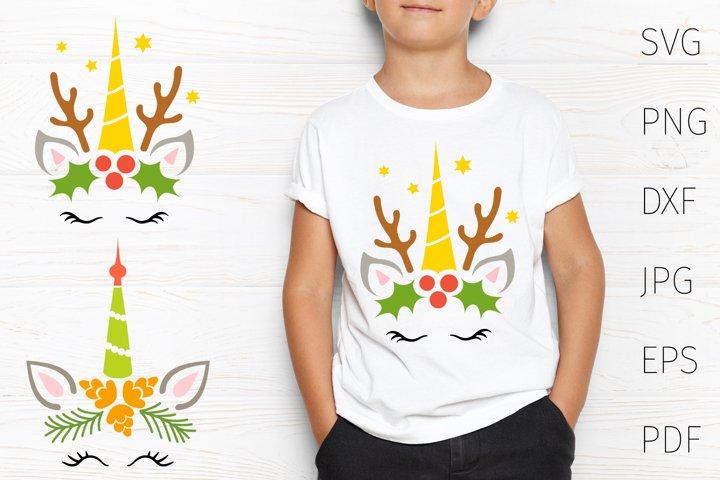 Christmas unicorn svg for cricut, Christmas svg t shirt.