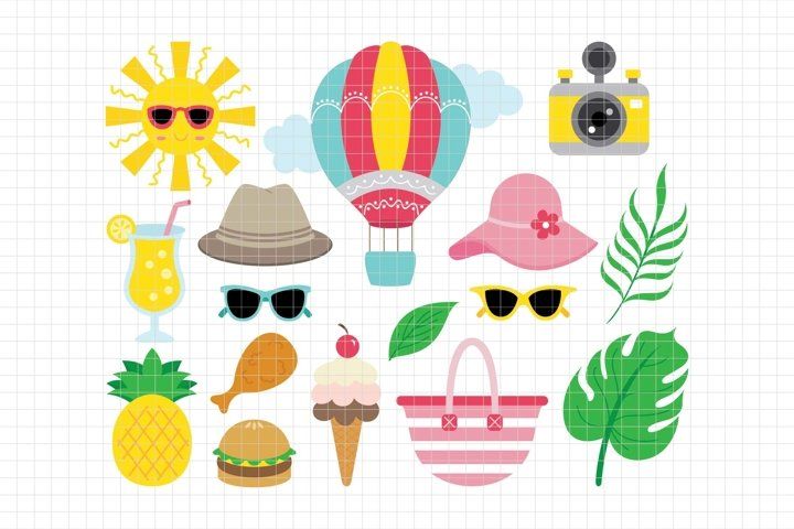 Summer-Digital Clipart LES.CL71